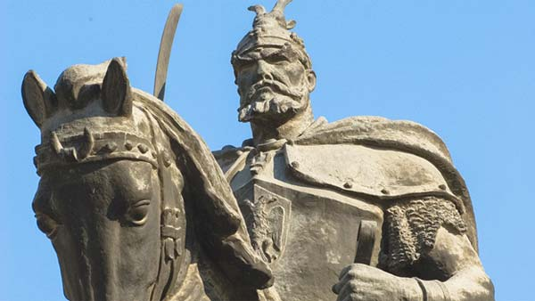 Balkan Statue of Man on Horse