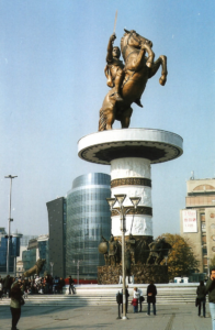 Statue of Alexander The Great in Skopje city center