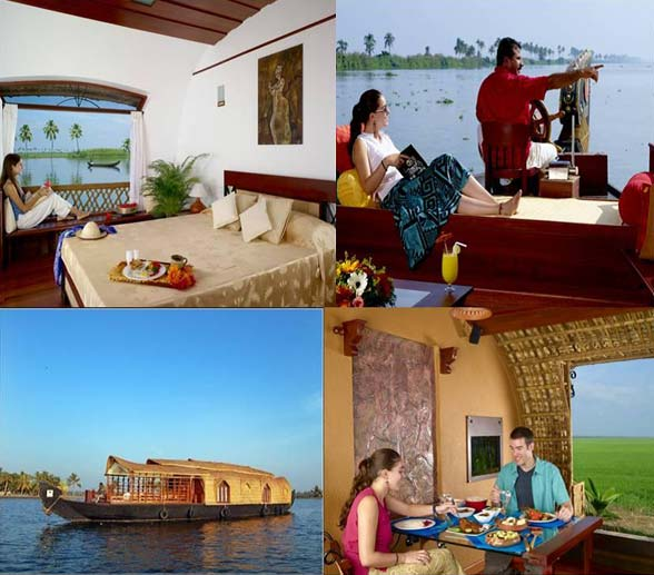 Houseboat accommodations in Kerala