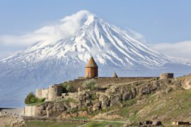 Khor Virap Church Complex and Mount Ararat, Armenia.