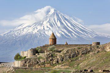 Khor Virap Church Complex and Mount Ararat, Armenia.